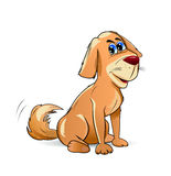 Doggy. Cartoon pooch brown color on a white background Royalty Free Stock Image