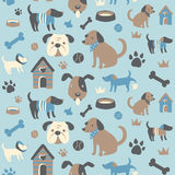 Doggy Collection Seamless Pattern. Set of cute doggy related icons arranged in a circle. Available as in Illustrator EPS 10 format with organized and named vector illustration