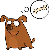 Doggy con la bolla di discorso Fotografia Stock Libera da Diritti