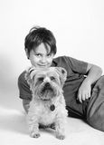 Doggy e me immagine stock