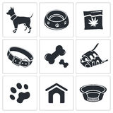 Doggy icon collection Stock Photography