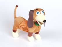 Doggy toy. A small doggy toy on the white background Stock Image