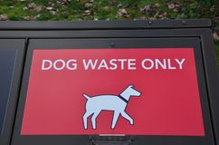 Doggy waste deposit. Glad to see deposit boxes for doggy waste. Beats stepping in it Stock Photos