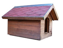 Doghouse. Large doghouse from wood of boards stock photos