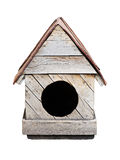 Doghouse. Wooden old dog house isolated Stock Image