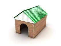Doghouse. Illustration of a new wooden doghouse on a white background royalty free illustration