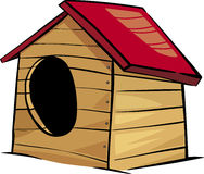 Doghouse clip art cartoon illustration Royalty Free Stock Photography