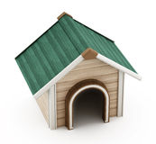 Doghouse with green roof Stock Photography