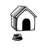 Doghouse icon isolated on white background. Stock Photos