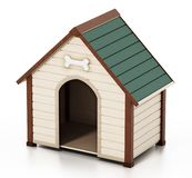 Doghouse isolated on white background. 3D illustration.  royalty free illustration