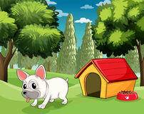 A doghouse at the park Royalty Free Stock Photo