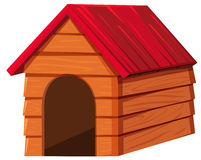 Doghouse with red roof. Illustration stock illustration