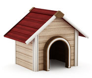 Doghouse with red roof Stock Image