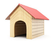 Doghouse. On white background. 3d rendering image vector illustration
