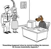 Dogmatiskt på internet vektor illustrationer