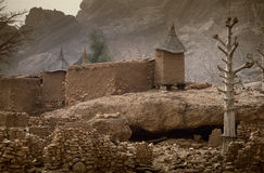 Dogon村庄, Dogon土地, Tireli,马里,非洲 图库摄影