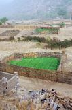 Dogon crops at the Bandiagara escarpment Royalty Free Stock Images