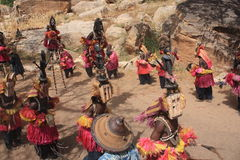 Dogon mask dance Stock Photography