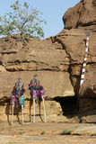 Dogon dancers having a break Royalty Free Stock Photos