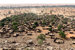 Dogon-Dorf in Mali, West-Afrika Lizenzfreie Stockfotos