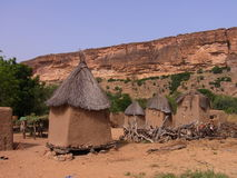 Dogon millet store. Typicult dogon village in mali, africa Royalty Free Stock Photo