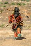 Dogon Stammes- Tänzer mit Schablone Lizenzfreie Stockbilder