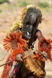 Dogon Stammes- Tänzer mit Stange Lizenzfreie Stockfotografie