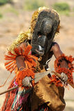 Dogon tribal dancer with spear Royalty Free Stock Photography