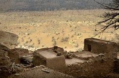 Dogon village, Dogon land, Tireli, Mali, Africa. Tireli, Mali, Africa - January 30, 1992: Dogon village and typical mud buildings Royalty Free Stock Images