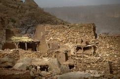 Dogon village, Dogon land, Tireli, Mali, Africa. Tireli, Mali, Africa - January 30, 1992: Dogon village and typical mud buildings Royalty Free Stock Photos
