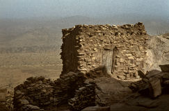 Dogon village, Dogon land, Tireli, Mali, Africa. Tireli, Mali, Africa - January 30, 1992: Dogon village and typical mud buildings Stock Image