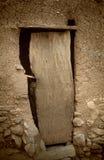 Dogon village, Dogon land, Tireli, Mali, Africa. Tireli, Mali, Africa - January 30, 1992: Dogon village and typical mud buildings, typical door Royalty Free Stock Image