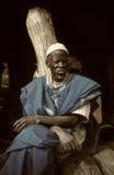 Dogon village, Dogon land, Tireli, Mali, Africa. Tireli, Mali, Africa - January 30, 1992: Dogon village and typical mud buildings, the wise men of the village Stock Image