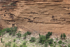 Dogon village, Mali. Famous living place of the Dogon people, in central Mali royalty free stock photography