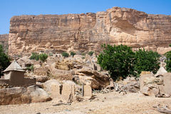 Dogon village, Mali (Africa). The principal Dogon area is bisected by the Bandiagara Escarpment Royalty Free Stock Images