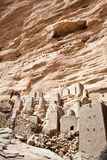 Dogon village, Mali (Africa). The principal Dogon area is bisected by the Bandiagara Escarpment Stock Images