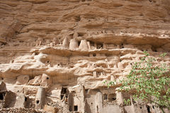 Dogon village, Mali (Africa). The principal Dogon area is bisected by the Bandiagara Escarpment Stock Photography