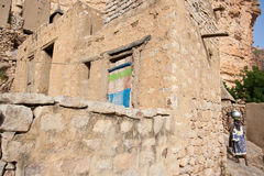 Dogon village, Mali (Africa). The principal Dogon area is bisected by the Bandiagara Escarpment Royalty Free Stock Photography