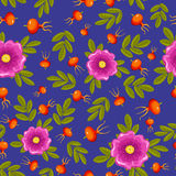 Dogrose seamless pattern. Stock Photo