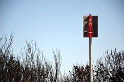 Dogrzewał żadny powstrzymywanie drogowego znaka po bushfire Zdjęcie Stock