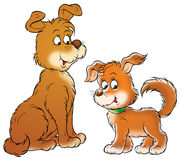 Dogs. Isolated clip-art and children's illustration for yours design, postcard, album, cover, scrapbook, etc