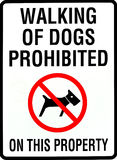 Dogs. Walking of dogs prohibited sign Royalty Free Stock Photography