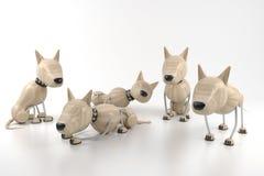 Dogs. 3d model. few dogs rest Stock Image