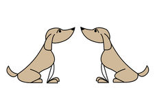 Dogs. Illustration drawing of dogs isolated on white Stock Photo