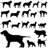 Dogs. Set of dog silhouettes vector