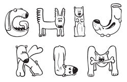 Dogs alphabet Royalty Free Stock Image