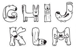 Dogs alphabet Royalty Free Stock Image