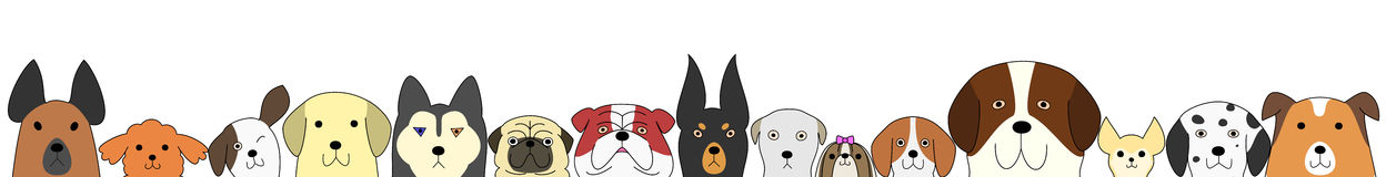 Dogs banner Royalty Free Stock Images
