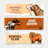 Dogs Banners Set Stock Photo