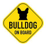 Dogs on board sign Royalty Free Stock Photo